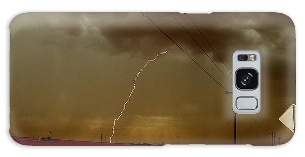 Lightning Strike In Oil Country Galaxy Case by Ed Sweeney