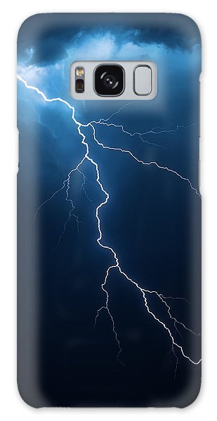 Storming Galaxy Case - Lightning With Cloudscape by Johan Swanepoel