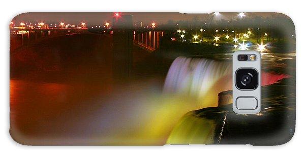 Lights On Niagara Falls Galaxy Case by Richard Engelbrecht