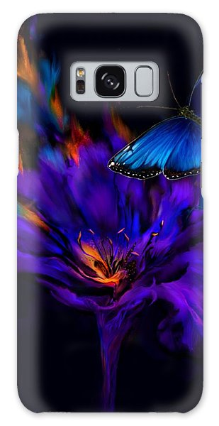 Like A Moth To A Flame Galaxy Case