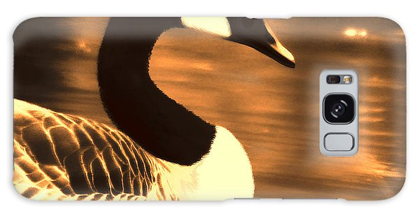Lila Goose The Pond Queen Sepia Galaxy Case