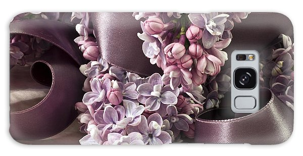 Lilac And Ribbon Curls Galaxy Case by Sandra Foster