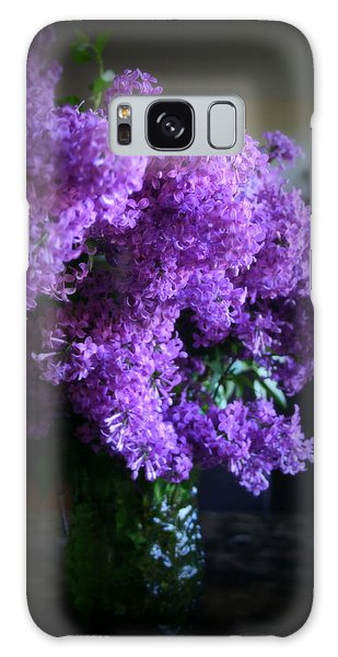 Lilac Bouquet Galaxy Case by Kay Novy