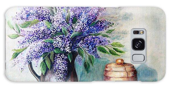 Lilac Bouquet Galaxy Case by Pattie Calfy