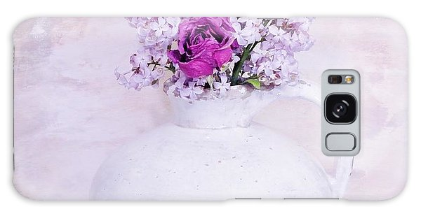 Lilacs And Roses Galaxy Case by Marsha Heiken