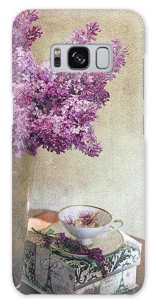 Lilacs In Vase 3 Galaxy Case