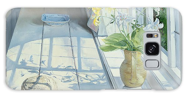 Window Galaxy Case - Lilies And A Straw Hat by Timothy Easton