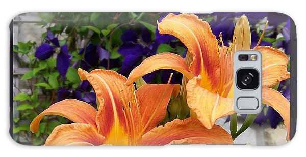 Lilies And Clematis Galaxy Case