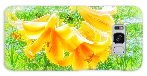 Lilies Back-lit Galaxy Case by Michael Hubley