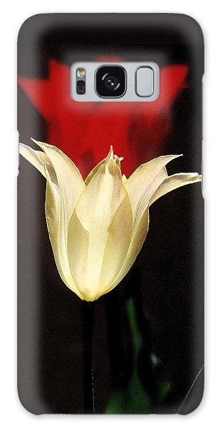 Lilies White Before Red Galaxy Case by Robert J Sadler