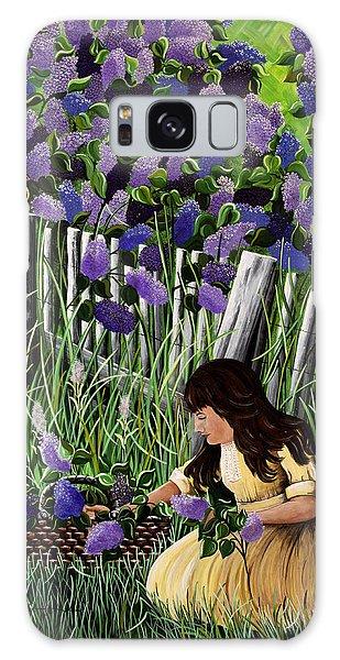Lillian's Lilacs Galaxy Case