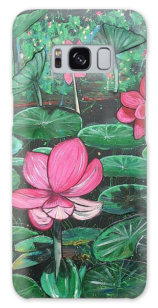Galaxy Case - Lillies by Joan Stratton