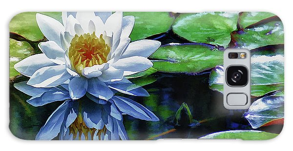 Lily And Dragon Flies Galaxy Case by Elaine Manley
