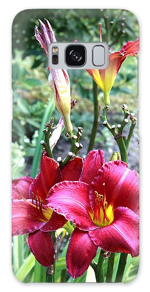 Lily In The Garden Galaxy Case