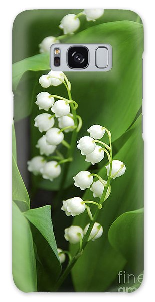 New Leaf Galaxy Case - Lily-of-the-valley  by Elena Elisseeva