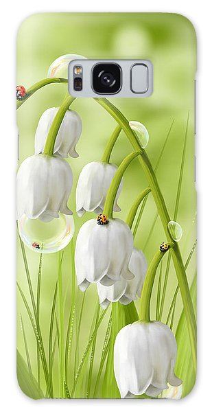 Lily Of The Valley Galaxy Case by Veronica Minozzi