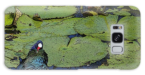 Lily Pad With Bird2 Galaxy Case