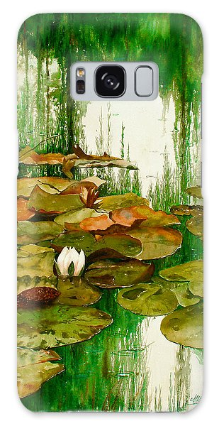 Reflections Among The Lily Pads Galaxy Case