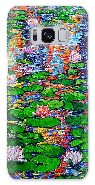 Lily Pond Colorful Reflections Galaxy Case