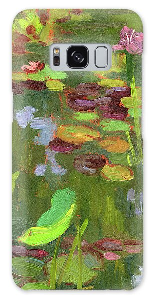 Sea Lily Galaxy Case - Lily Pond by Diane McClary