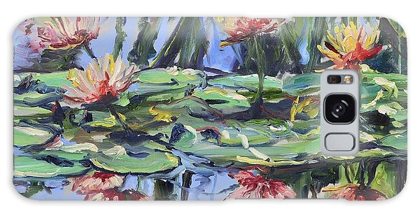 Lily Pond Reflections Galaxy Case