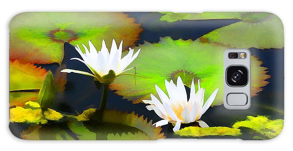 Lily Pond Bristol Rhode Island Galaxy Case by Tom Prendergast