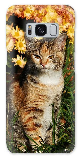 Lily With Harvest Mums Galaxy Case by VLee Watson