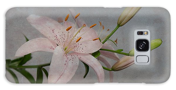 Pink Lily With Texture Galaxy Case