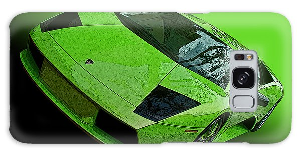 Lime Green Lamborghini Murcielago Galaxy Case