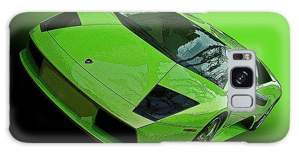 Lime Green Lamborghini Murcielago Galaxy Case by Samuel Sheats