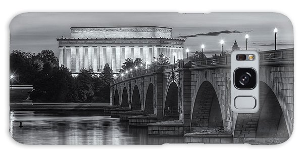 Lincoln Memorial And Arlington Memorial Bridge At Dawn II Galaxy Case by Clarence Holmes