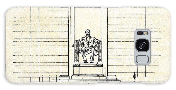 Lincoln Memorial Galaxy Case - Lincoln Memorial Sketch by Gary Bodnar
