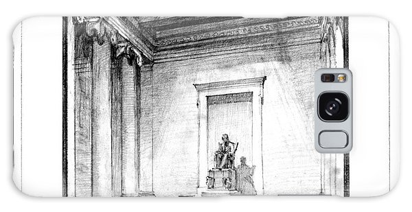 Lincoln Memorial Galaxy Case - Lincoln Memorial Sketch IIi by Gary Bodnar
