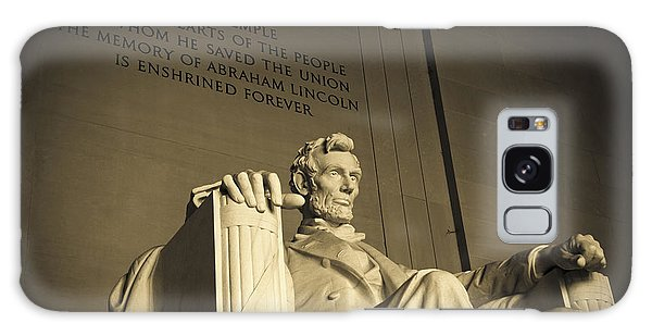 Lincoln Statue In The Lincoln Memorial Galaxy Case