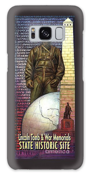 Lincoln Tomb And War Memorials Street Banners Korean War Pilot Galaxy Case by Jane Bucci