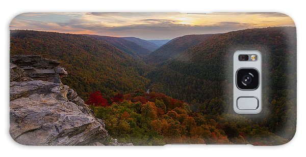 Lindy Point Sunset At Blackwater Falls In West Virginia Galaxy Case