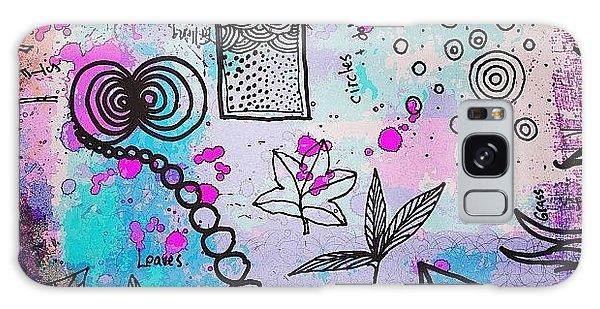 #line #color #shape #design #doodles Galaxy Case