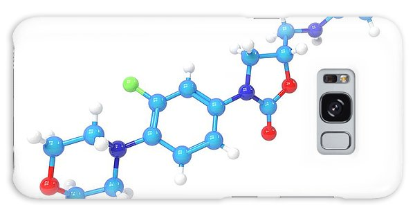 Synthesis Galaxy Case - Linezolid Antibiotic Molecule by Indigo Molecular Images