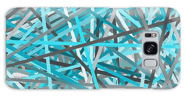 Link - Turquoise And Gray Abstract Galaxy Case