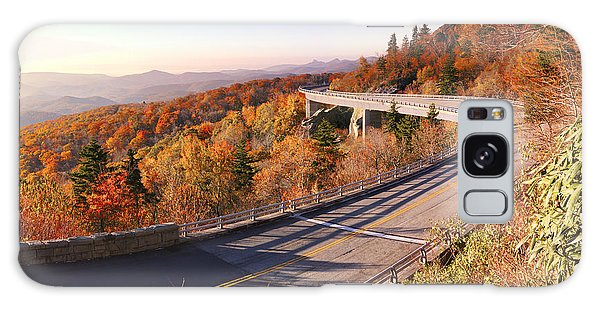 Linn Cove Viaduct On An Autumn Morning Galaxy Case