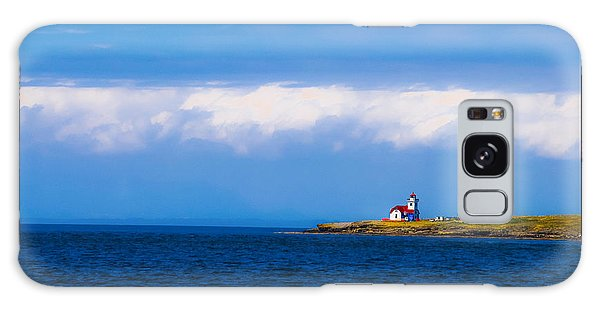 Light House In British Columbia Galaxy Case