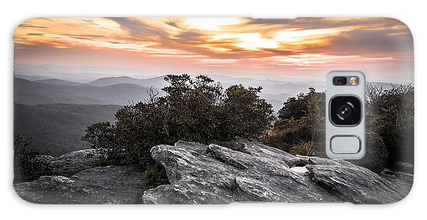 Linville Gorge Sunrise Galaxy Case by Serge Skiba