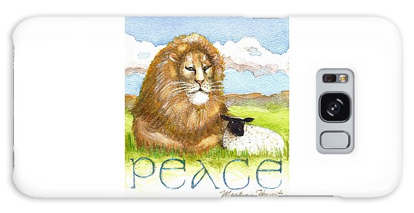 Lion And Lamb - Peace  Galaxy Case