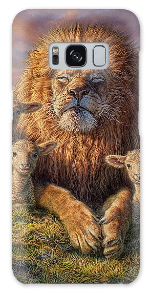Lion Galaxy Case - Lion And Lambs by Phil Jaeger