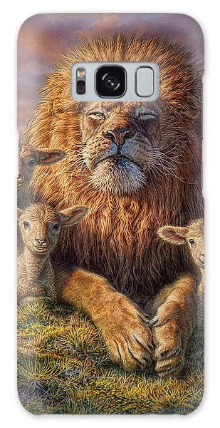 Wildlife Galaxy Case - Lion And Lambs by Phil Jaeger