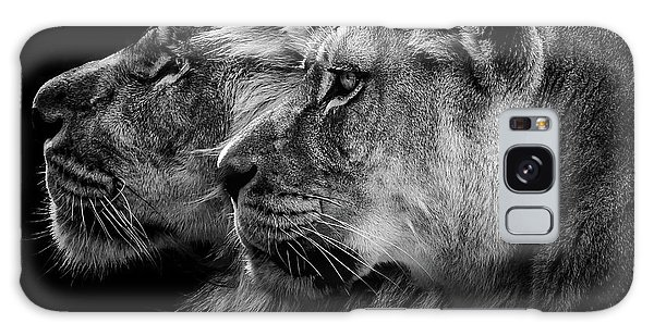 Lion Galaxy Case - Lion And  Lioness Portrait by Laurent Lothare Dambreville