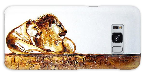 Lion And Lioness - Original Artwork Galaxy Case
