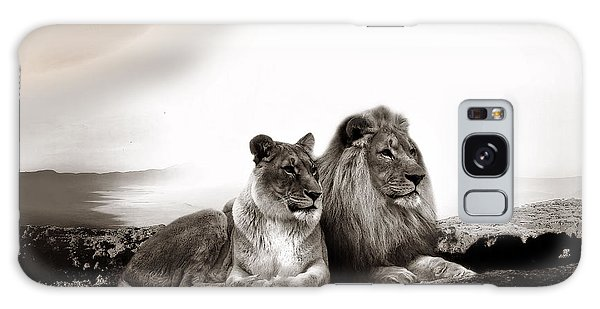 Lion Couple In Sunset Galaxy Case