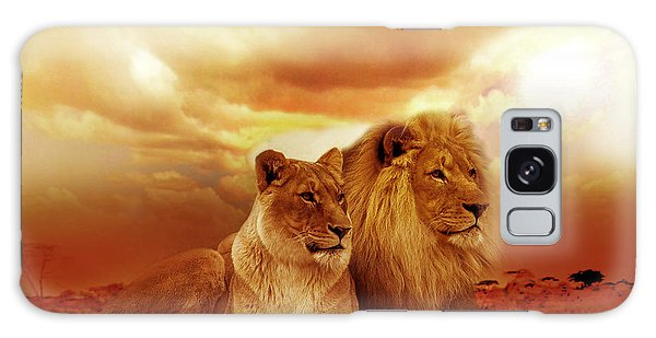 Lion Couple Without Frame Galaxy Case