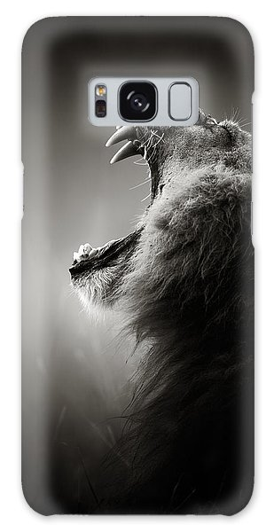 Wildlife Galaxy Case - Lion Displaying Dangerous Teeth by Johan Swanepoel